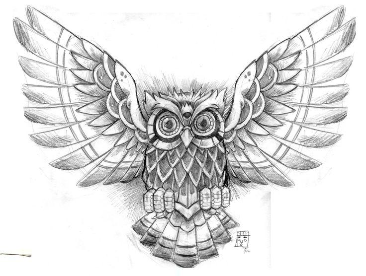Owl Tattoo Design - see more designs on http://thebodyisacanvas.com