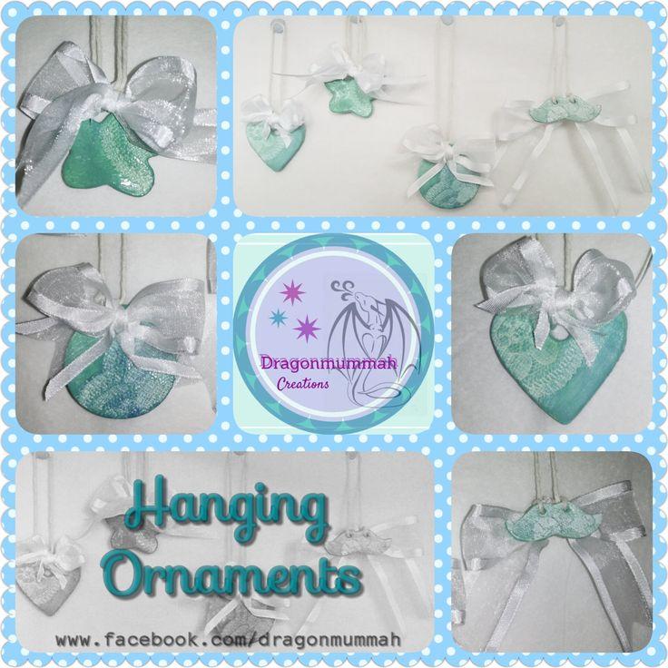 Hanging ornaments by DragonmummaCreations on Etsy