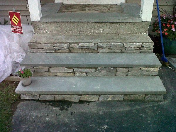 great idea to reface concrete steps
