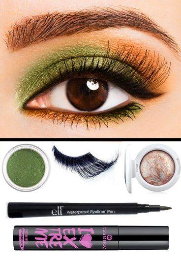 Capodanno 2011: makeup occhi verde e rame