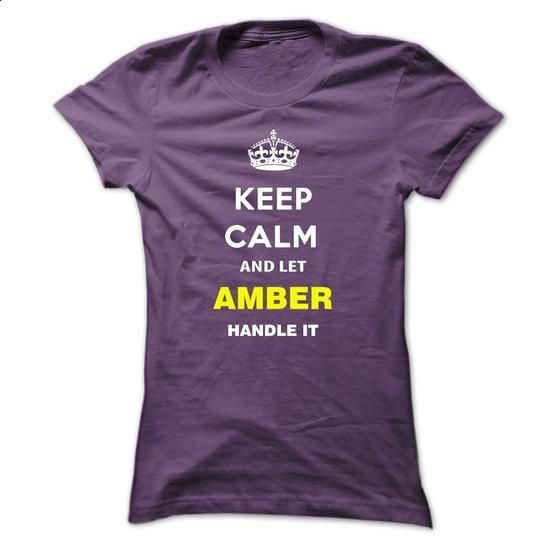 Keep Calm And Let Amber Handle It - #pullover #music t shirts. GET YOURS => https://www.sunfrog.com/Names/Keep-Calm-And-Let-Amber-Handle-It-mzspz-Purple-3771012-Ladies.html?60505
