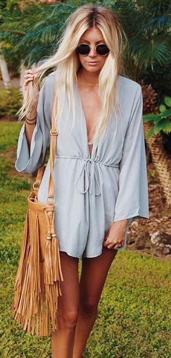 #summer #fashion / baby blue