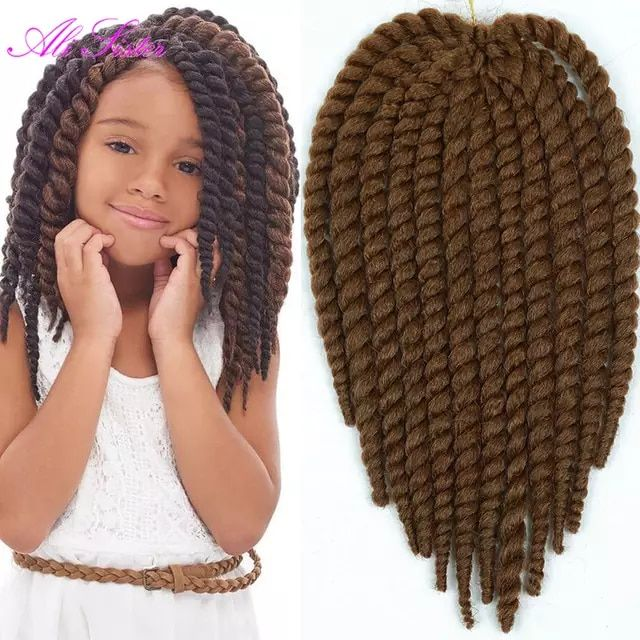 7 6us 12inch Havana Mambo Twist Crochet Braid Hair For Little Girl And Lady Synthetic Senegalese Twist Hair Crochet Twist Braids Hair Hair French Braid Braid Little Girl Braids Kids Braided Hairstyles Twist