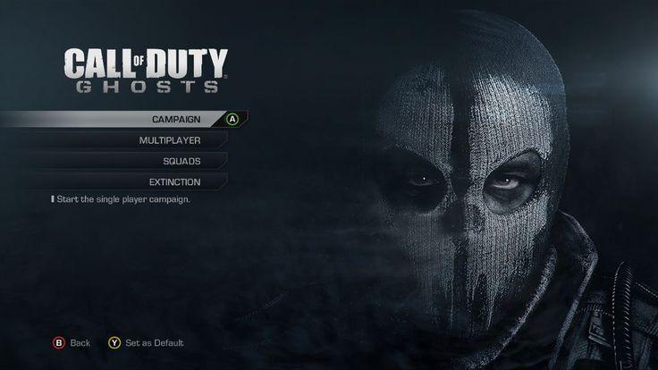 Call of Duty: Ghost Menu Screen
