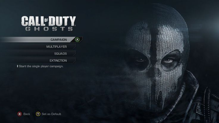 Call of Duty: Ghost Menu Screen