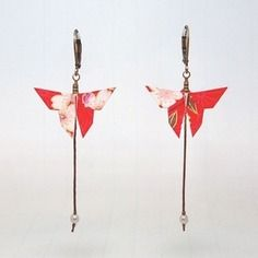 Boucles d'oreilles origami mata morphose