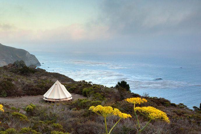 Sibley Tent at glamping spot Treebones in Big Sur