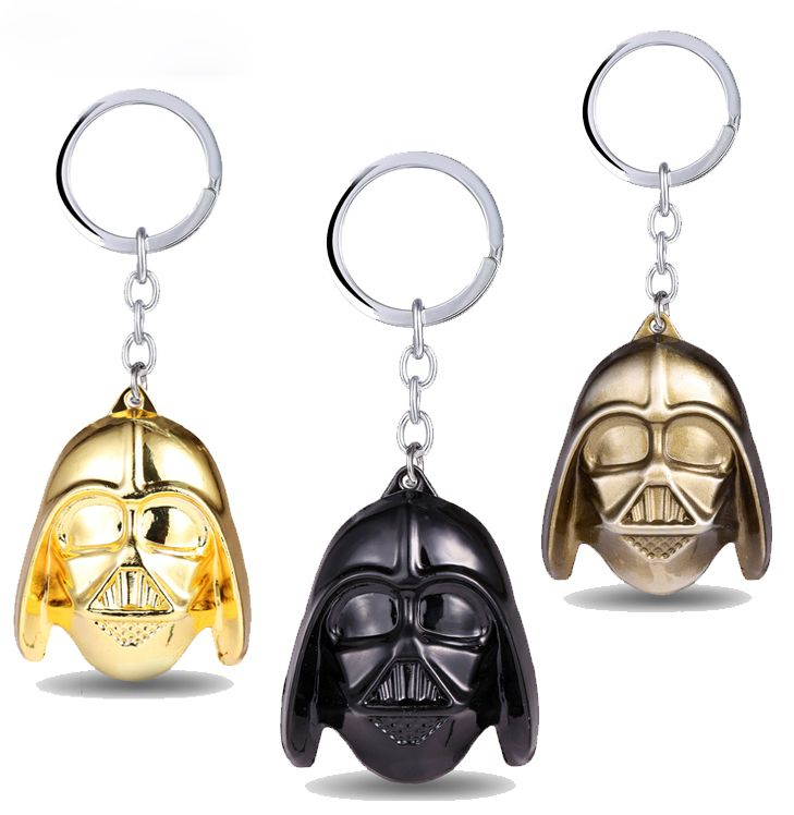 MS JEWELS 6pcs Lots Movie Star Wars Darth Vader Mask Keychain Metal Key Rings For Fans Chaveiro Key Promotion Wholesale