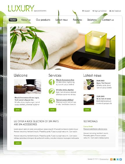 Best Spa Salon Website Images On   Salon Website