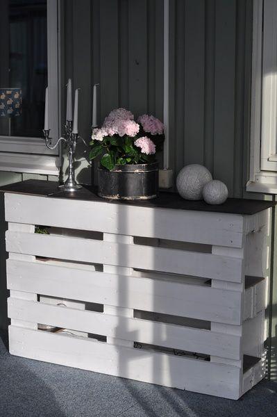 Una consola de palets minimalista y con estilo