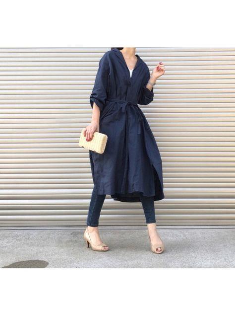 UNIQLOのシャツワンピースを使ったkuukoのコーディネートです。WEARはモデル・