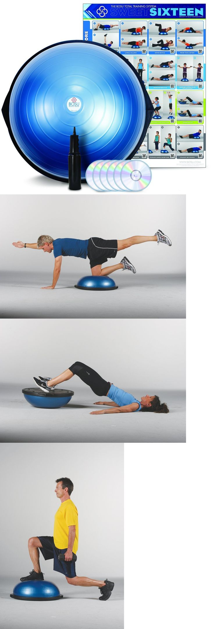 Balance Trainers 179803: Bosu Ball Pro Balance Trainer Exercise Ball Commercial Professional Gym Unit Fun -> BUY IT NOW ONLY: $119.9 on eBay!