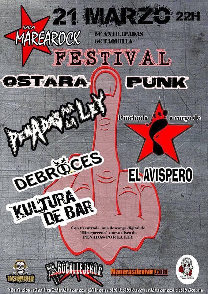 Una semana ! Cuenta regresiva ! Ostara Punk ,reserva tus entradas en la sala Marearock ! Marearock Rock-Bar y en MarearockTicket.com