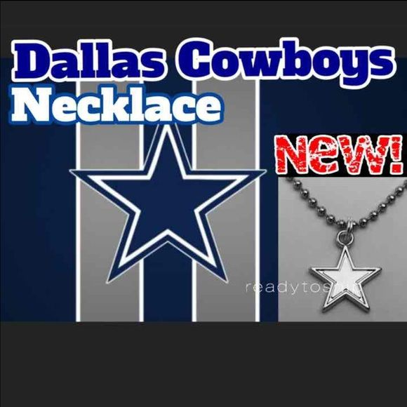 "DALAS COWBOYS NFL LOGO NECKLACE NEW WITH GUFT BOX ✅ITEMS SHIPPED DAY YOUR ORDER IS PLACED! ✅PLEASE CHECK OUT MY OTHER LISTINGS! ✅UNISEX FASHION JEWELRY ✅GREAT FOR ALL: WOMEN MEN KIDS!   HAPPY HOLIDAYS! Makes a great stocking stuffer! The NFL season is in full swing, why not add this to your collection! You will receive this BRAND NEW, NEVER USED, NFL charm pendant logo with a Stainless Steel 24"" ball Chain Necklace & GIFT BOX! Pendant is made of zinc alloy and measures 18 mm X 18 mm. Any…"