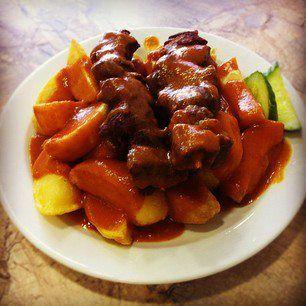 """#702. Saté ku Batata (""""Krioyo Chinese"""" Satay and Potatoes)"""