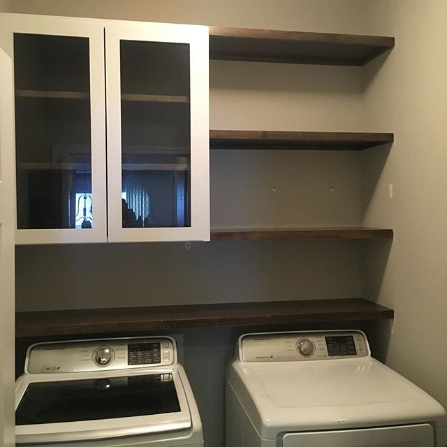 Removed Some Of Those Plain White Wire Shelves And Created A