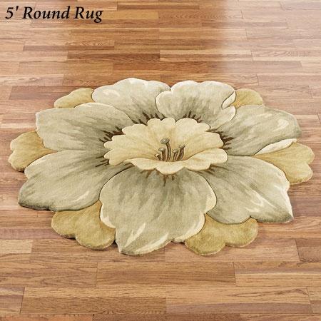 Mabella Round Flower Rug