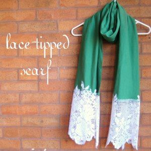 lace-tipped scarf - so pretty and easy to make!