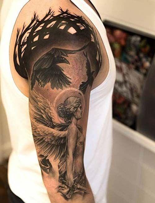 melek kol dövmeleri erkek angel arm tattoos for men