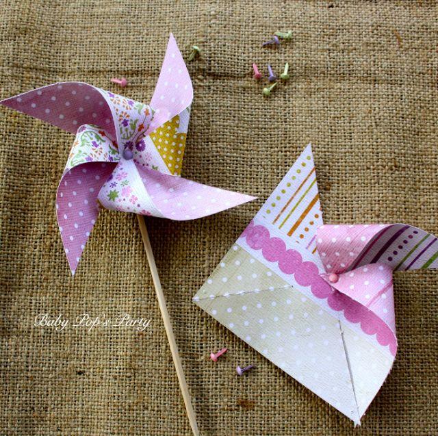 {Le jeudi, je DIY} petits moulins à vent… | So Lovely Moments : Blog mariage, mariage original, idées déco et inspirations colorées