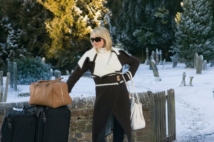 """Christian Dior shearling coat worn by Cameron Diaz in """"The Holiday"""" - love the movie, love her wardrobe in it!"""