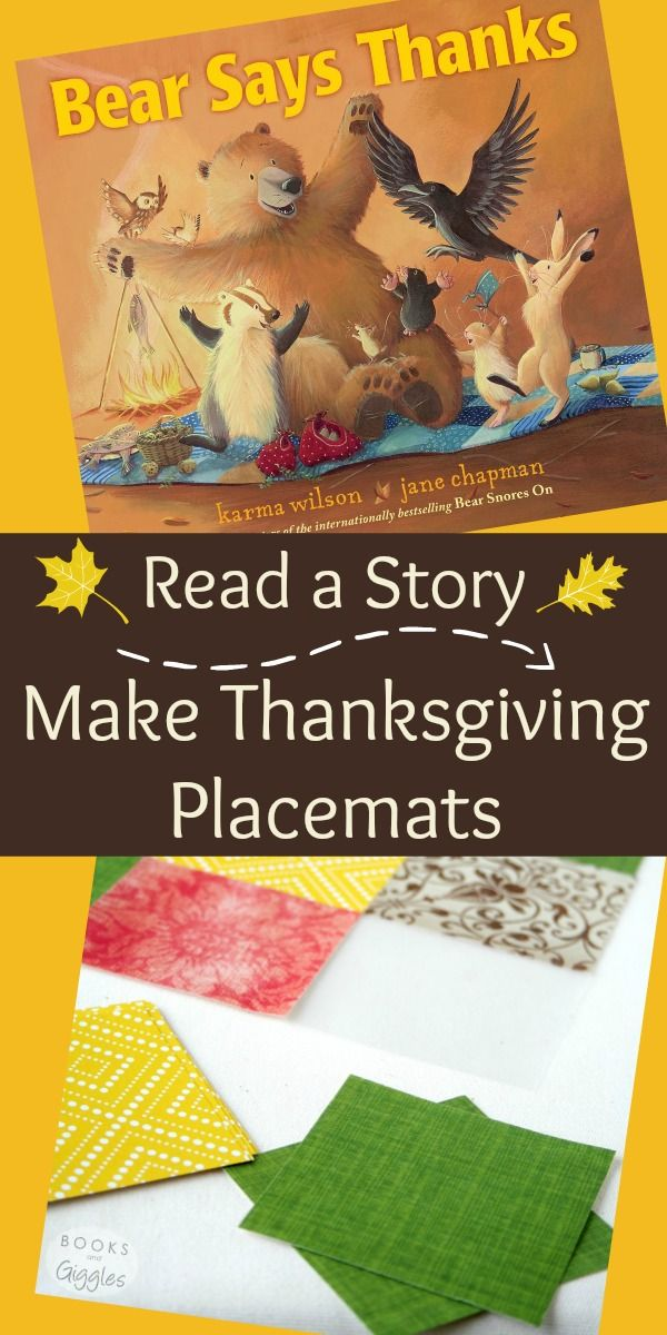 A Thanksgiving story book idea plus a DIY placemat craft for preschool,  kindergarten, and  elementary aged kids. Part of the Kids Are Thankful blog hop of Thanksgiving stories with craft & activity ideas.