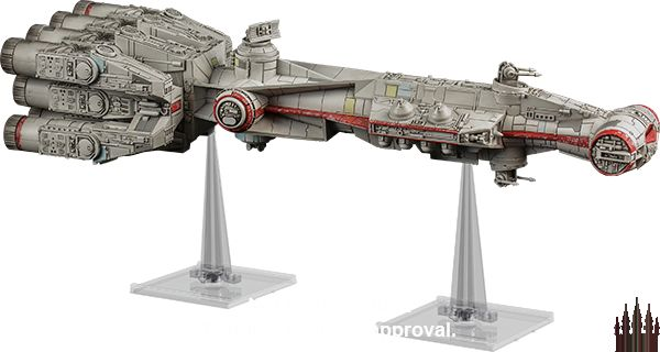 The iconic Corellian CR90 comes to life in X-Wing with the Star Wars X-Wing: Tantive IVExpansion Pack!