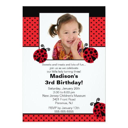 356 best Lady Bug Birthday Party Invitations images – Ladybug Party Invitations