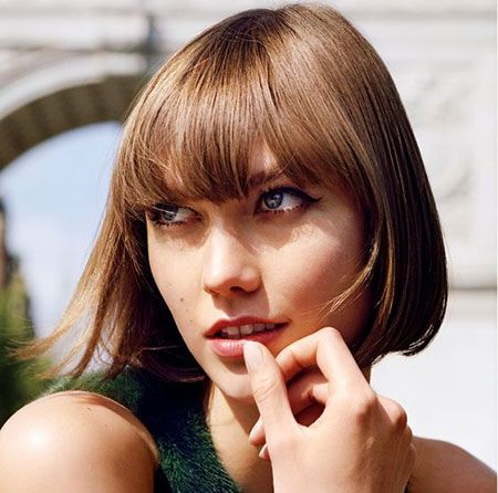 The Vintage Short Cut with Bangs