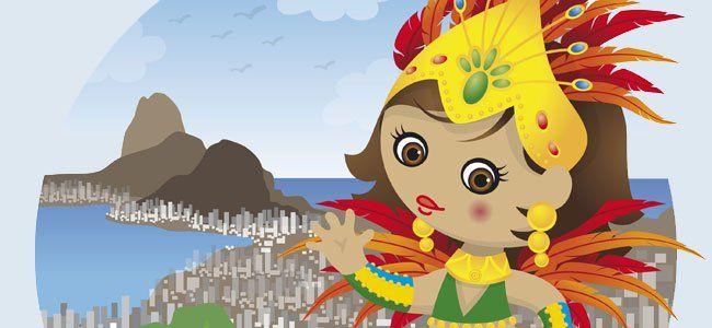Disfruta junto a tu hijo de la canción 'Carnaval, Carnaval', una canción llena de ritmo y alegría que nos traslada hasta las animadas fiestas de Carnaval cariocas y que seguramente pondrá una nota de color a la fiesta de disfraces de tu hijo. Aprende la letra de la canción y ... ¡a bailar!