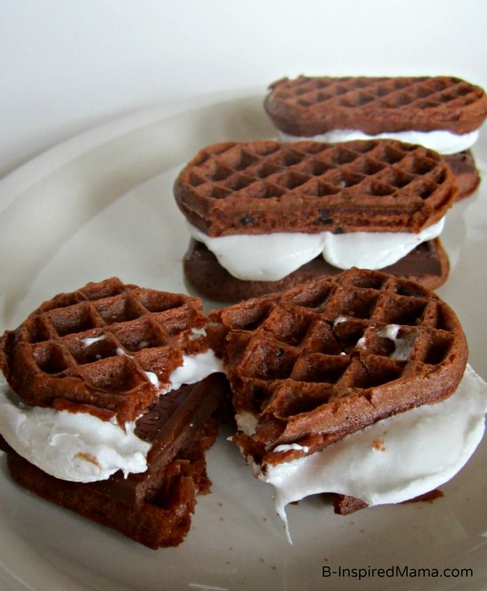 S'mores Chocolate Waffles Recipe — Dishmaps
