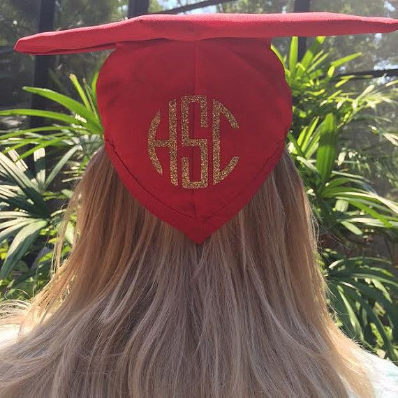 Iron-On Graduation Cap Monogram Decal