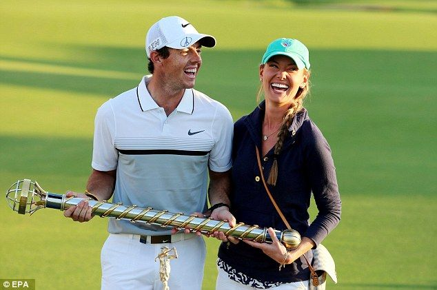 Rory McIlroy is reportedly engaged after popping the question in the city of love. The couple pose with the Race to Dubai Trophy after the final round of DP World Tour Championship European Tour Golf tournament 2015 at Jumeirah Golf Estates in Dubai on November 22