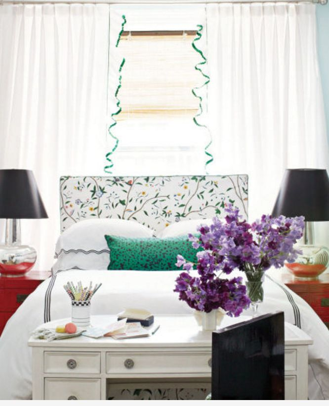 If you're not happy with your old headboard, slipcovering is an inexpensive way to change up your room's style.