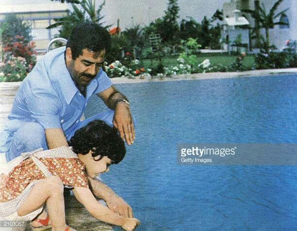 hala and her father former Iraqi president Saddam Hussein