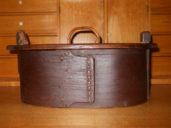 Perfect Antique Swedish Svepask Wooden Box Circa 1800s By RidaRidaRanka, $75.00