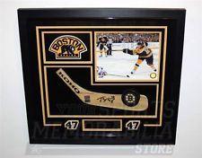 Torey Krug Boston Bruins signed framed hockey stick blade display