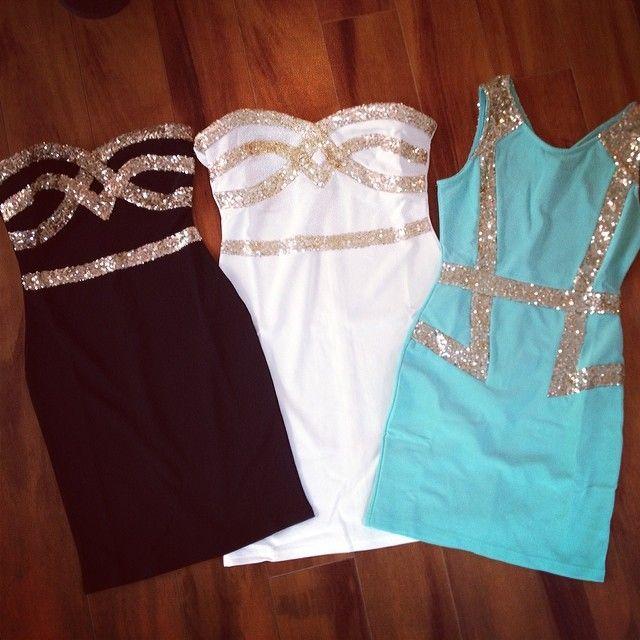 Black and white dresses!