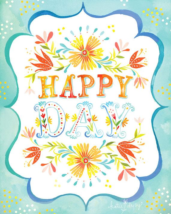 Happy Day vertical print by thewheatfield on Etsy, $18.00