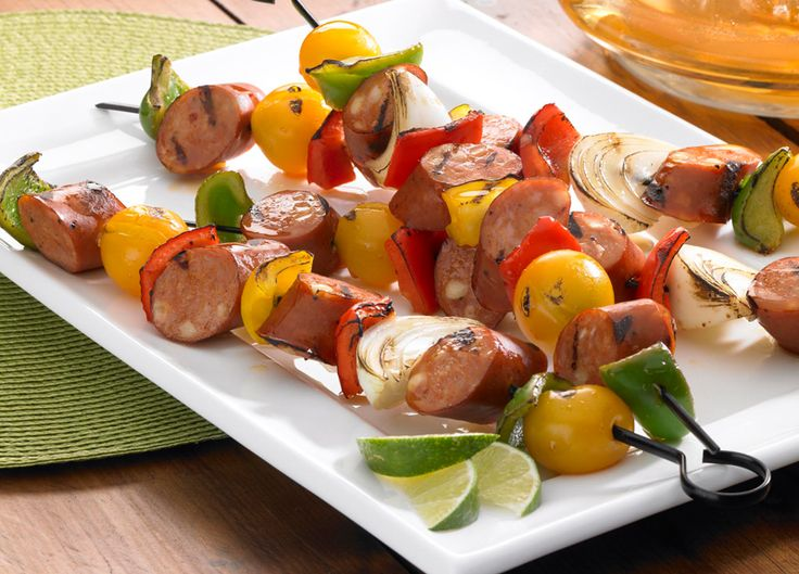 Johnsonville® Chipotle Monterey Jack Cheese Chicken Sausage and Lime Kabobs - Smackchow.com