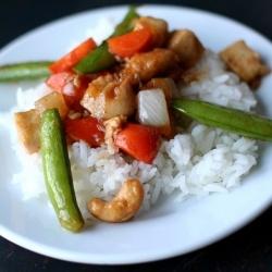 Cashew Chicken with Sugar Snap Peas recipe