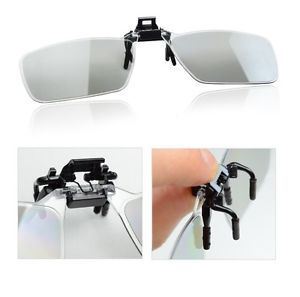 CLIP-ON Light Vivid 3D passive Glasses LG polarized realD FPR TV Panasonic Sony