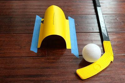 Indoor putt-putt  - simple to make and hours of fun.  Great one for a rainy day.