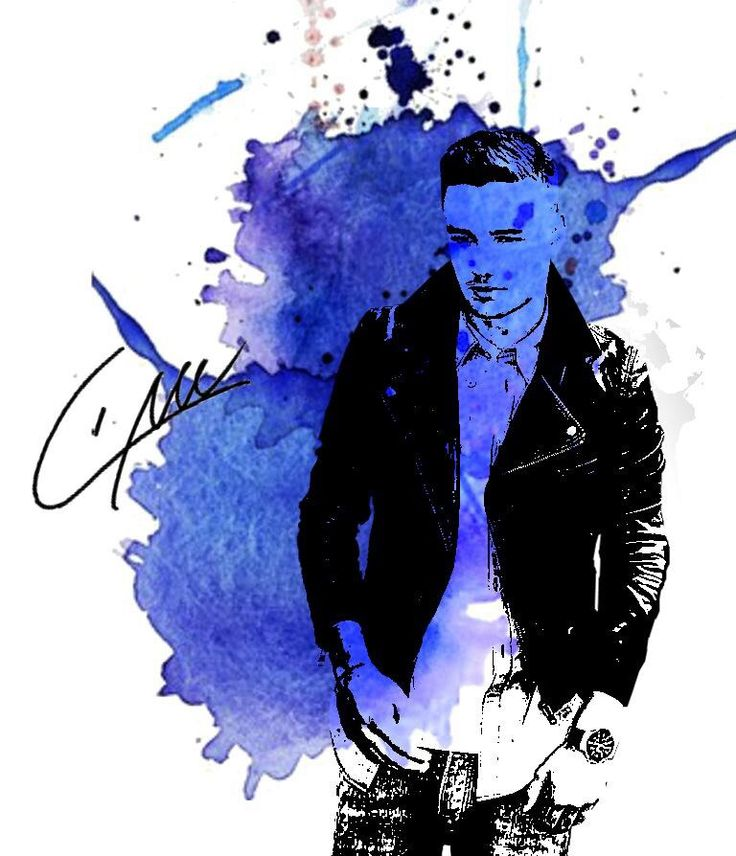 Wow! This a gorgeous watercolor of Liam:)