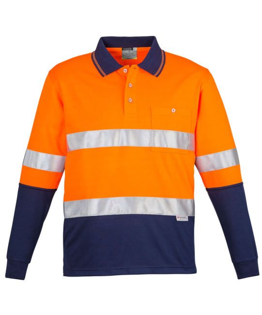 SYZMIK WORKWEAR DAY/NIGHT TWO TONE POLO LONG SLEEVE HOOPED  $43  Look good, feel comfortable and be safe in this SYZMIK WORKWEAR polo. It is a well engineered safety shirt to be used in the demanding workwear environment of Australia. Its classic two tone design and durability with high quality 3M reflective double tape around chest provides greater visibility to meet Workwear Safety Standards. Get workwear online get SYZMIK WORKWEAR.