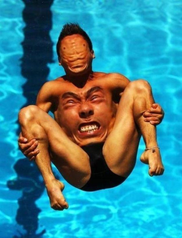 This Olympic diver = most disturbing face swap ever