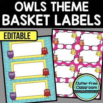 OWL THEME Editable Labels by CLUTTER FREE CLASSROOM - These organizational labels have many uses in the classroom or home school. They can be classroom library labels, name tags for cubbies or desks, supply labels, used for organizing centers, and much more. Grab these cute printables today for your preschool, Kindergarten, 1st, 2nd, 3rd, 4th, 5th, or 6th grade classroom or home school. And make sure to check out the links for some FREE downloads to help make your space look great!
