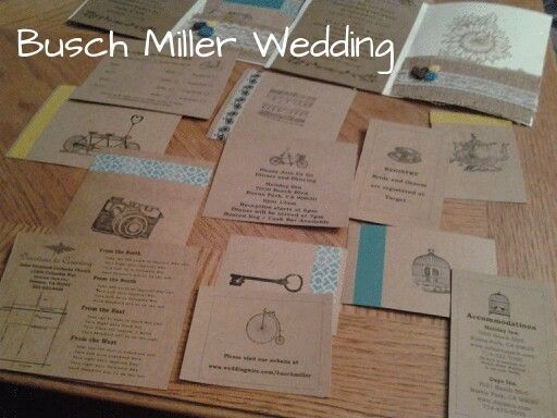 The reply/ information cards from my invitations. #homemade #stamps #washitape #wedding #invitations