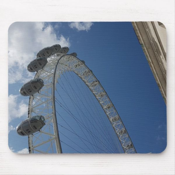 The London Eye Big Wheel Viewing Platforms Mat Mouse Mat Zazzle Co Uk London Eye Mouse Mat Big Wheel
