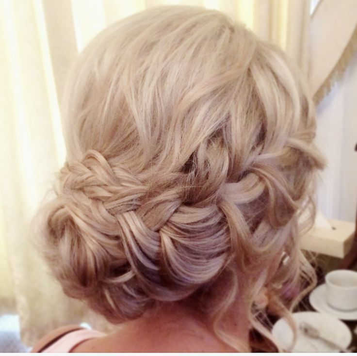 Wedding hair by Lisa Cameron Beamish hall bridesmaid Hair up ideas bridesmaids Plait plaits plaited braids braid braided blonde up hairstyle bridal bride weddings north east pretty  Lovely hair style curls natural hairdresser